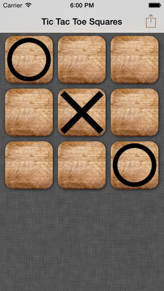 Tic Tac Toe Squares