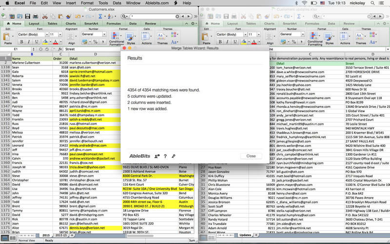 Merge Tables Wizard for Microsoft Excel Screenshot - 5