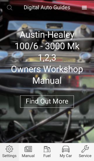Digital Auto Guides Austin Healey 100 6 3000 Mk 1 2 3 Owners Workshop Manual