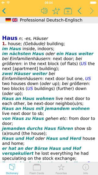 German English Talking Dictionary Professional