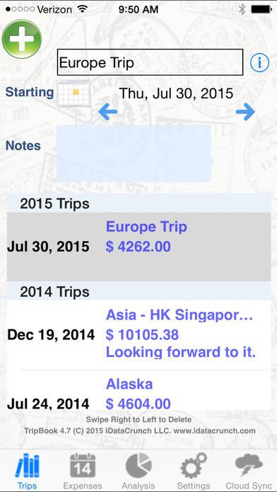 TripBook iPhone Screenshot 2