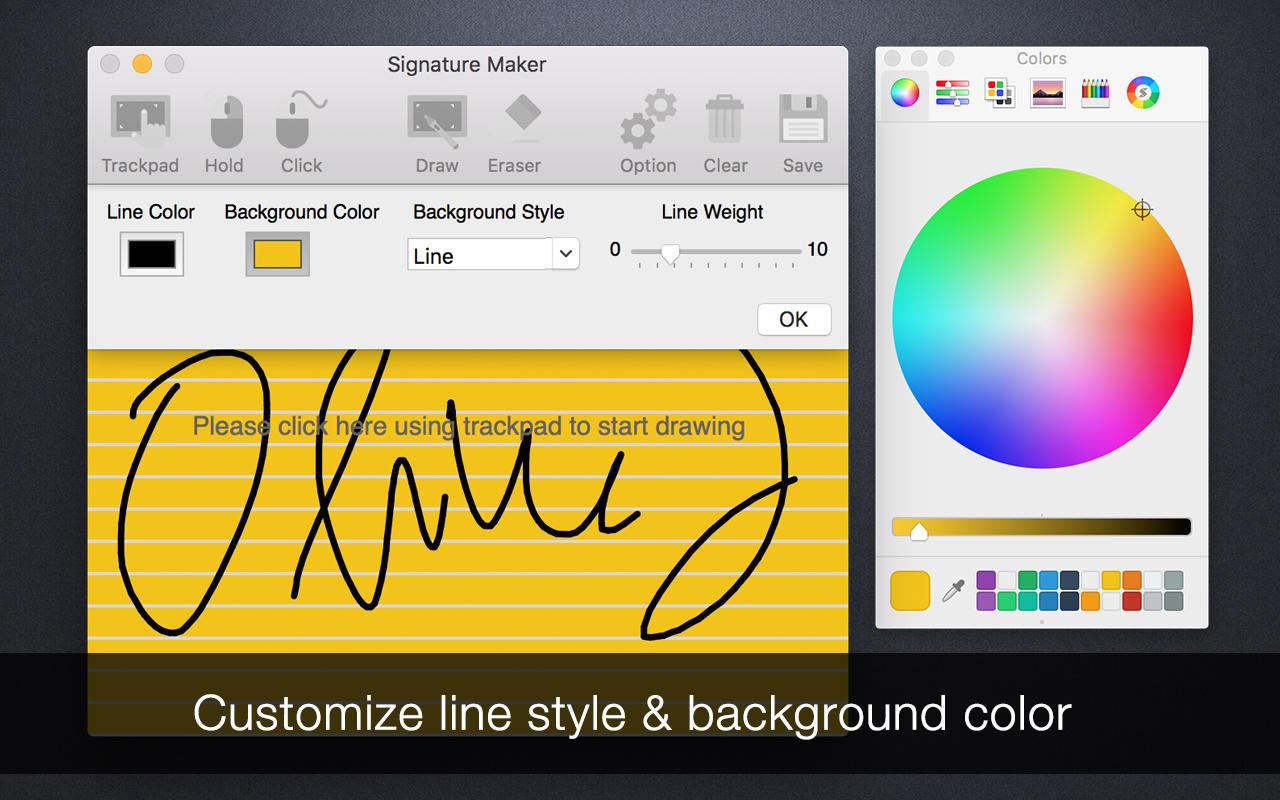 App shopper signature maker graphics design for Blueprint maker app