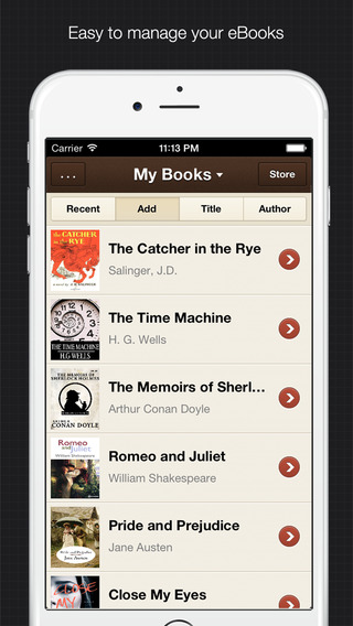 YiBook - elegant ebook reader for epub & txt