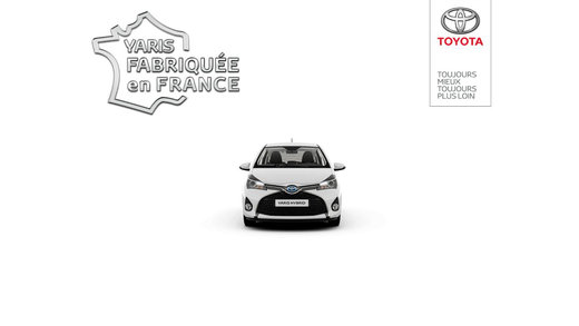 toyota yaris made in france 360 app app. Black Bedroom Furniture Sets. Home Design Ideas