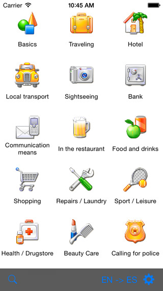 English-Swedish Talking Travel Phrasebook iPhone Screenshot 1