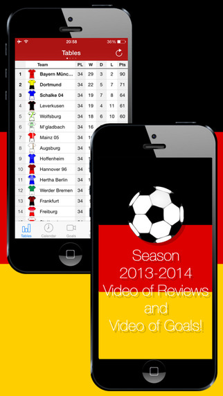 Deutsche Fußball - with Video of Reviews and Video of Goals. Season 2013-2014