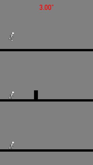 Make 3d man jump & run. Don't fall - Never die in race!