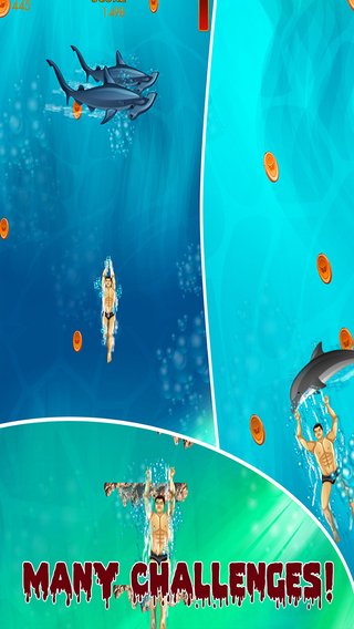 Mega dive with shark by night evolution game between for Fish evolution game