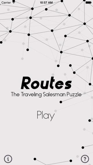 Routes - Traveling Salesman Puzzle