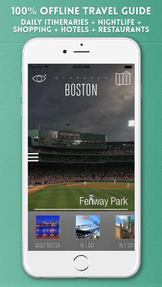 Boston Travel Guide with Offline City Street and Metro Maps