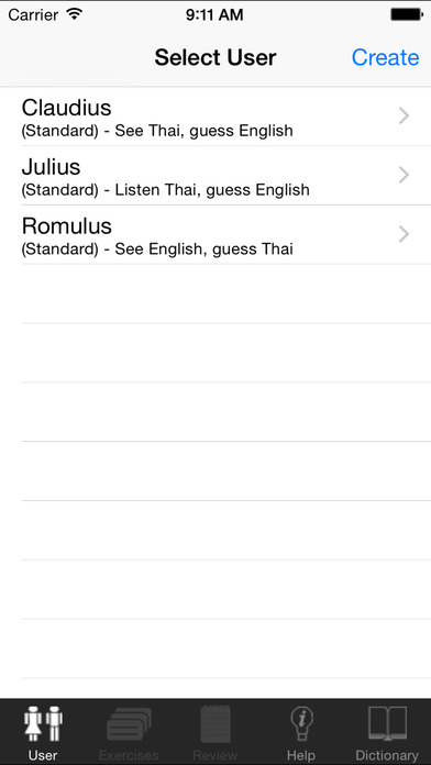 ClickThai VocTrain EN iPhone Screenshot 1