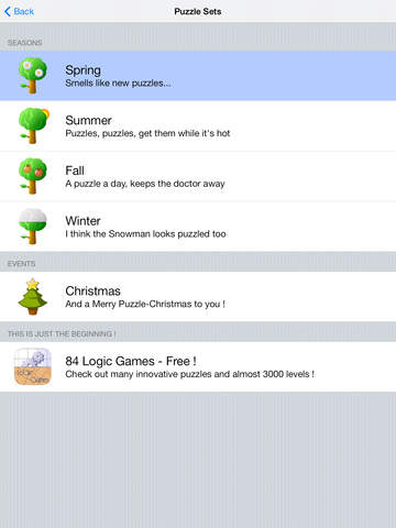 Parks Seasons - FREE Brain Teaser Logic Game screenshot