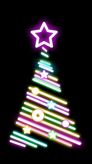 Live Christmas Tree Animation Screen Ambience Lighting Wallpaper