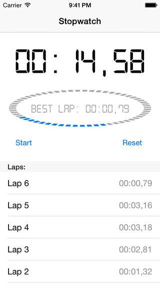 Segment Stopwatch