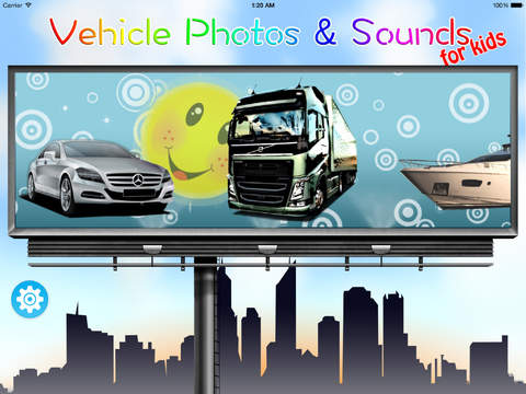 玩免費遊戲APP|下載Vehicle Photos & Sounds for Kids app不用錢|硬是要APP