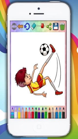 Paint magic football – coloring players and teams