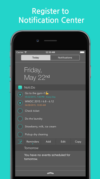 Noti:Do with Reminders Screenshots