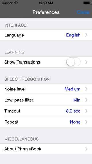 English-German-Russian-Polish-Spanish Talking Travel Phrasebook iPhone Screenshot 4