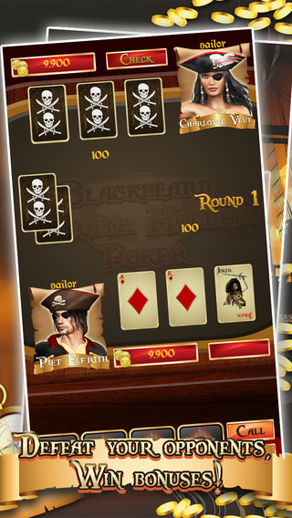 Blackbeard Pirate Holdem Poker - Fun Casino Vegas Win Big Game