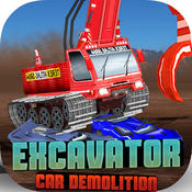 Excavator Car Demolition