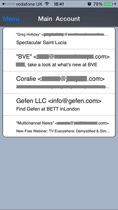 Pop3Count iPhone Screenshot 3