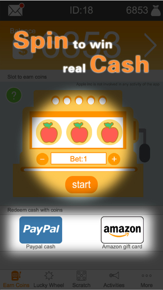 Cash Out Free Gift Card with Slot