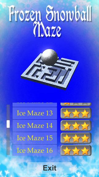 Frozen Snowball Maze