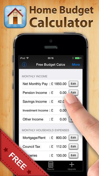 Free Home Budget Calculator