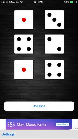 Dice Roller - six dice