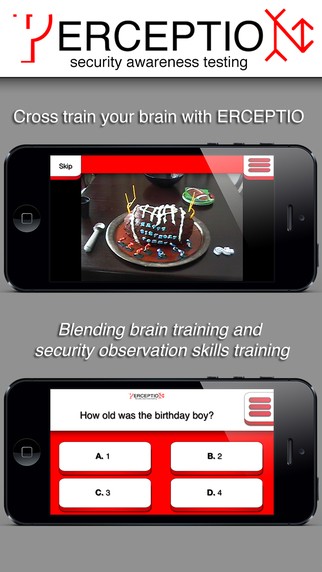 ERCEPTIO - Cross train your brain Test your perception and security observation skills with real vid