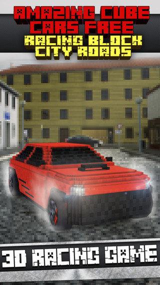 Amazing Cube Cars Free - Racing Block City Roads