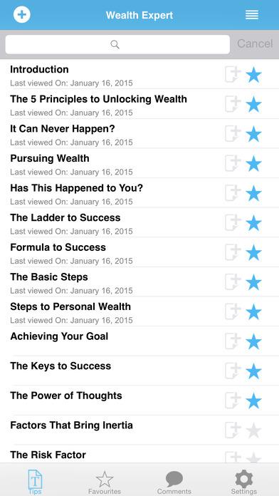 Wealth Expert iPhone Screenshot 2