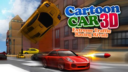 A Cartoon Car 3D Real Extreme Traffic Racing Rivals Simulator Game