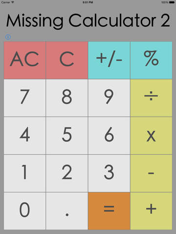 Missing Calculator Two