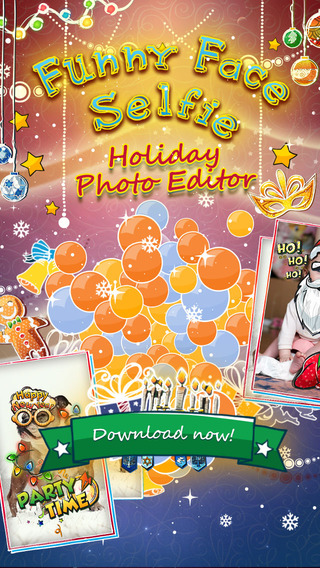Funny Face Selfie - Holiday Photo Editor