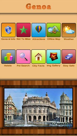 Genoa - Italy Offline Map Travel Guide