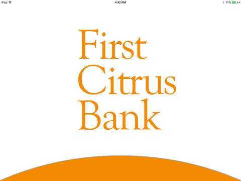 First Citrus Bank Tablet