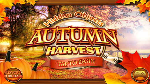 Autumn Harvest Hidden Objects - Fall Halloween Object Time Puzzle Games