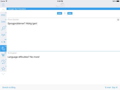 Danish English Dictionary & Translator iPad Screenshot 3