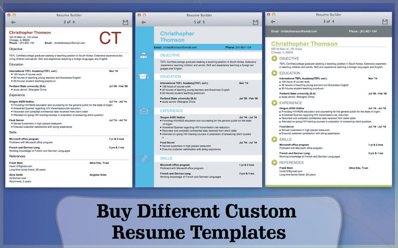 Resume Builder Screenshot - 3