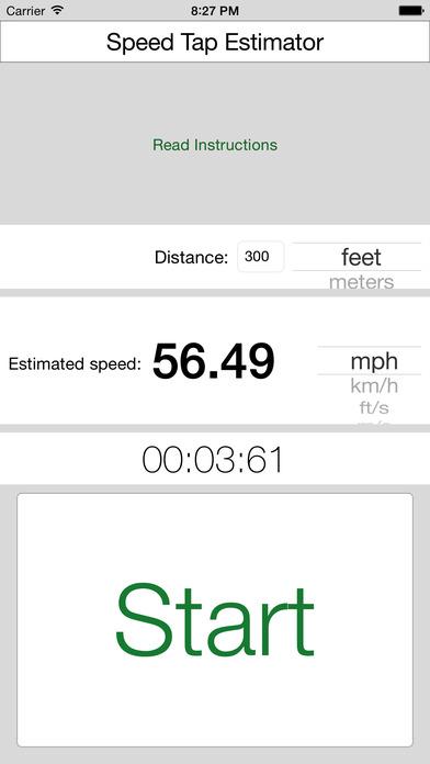 Screenshot #1 for Speed Tap Estimator