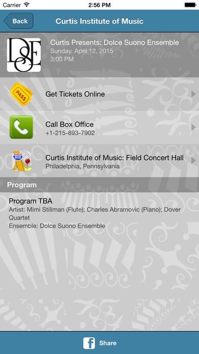 Curtis Institute of Music iPhone Screenshot 3