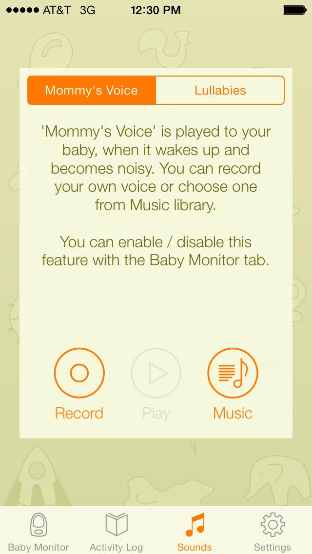 baby monitor alarm ios. Black Bedroom Furniture Sets. Home Design Ideas