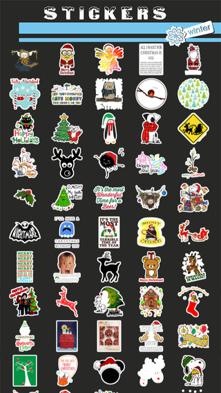 Christmas Winter Holiday Stickers Pro
