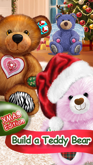 Build A Teddy Bear - A Bear's Hug In A Christmas Gift Card - Educational Care Kids Game