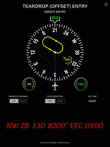Holding Pattern Entry Procedure Calculator