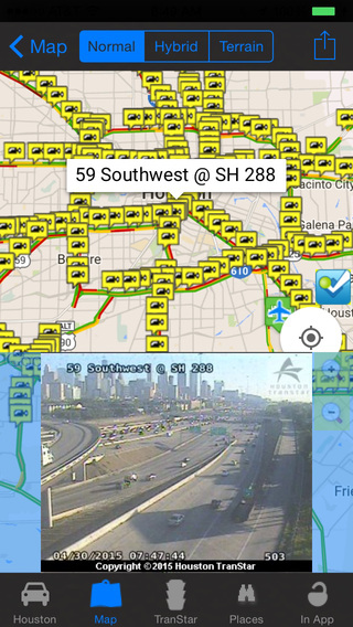 Houston Traffic Cameras - Travel Transit NOAA Pro