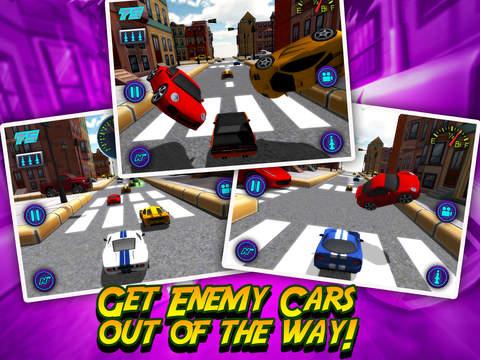 A Mini Toy Toon 3D Car Motor Racing Lightning Fast Auto Race Gamescreeshot 2