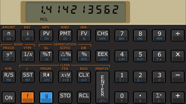 Touch 12i financial calculator