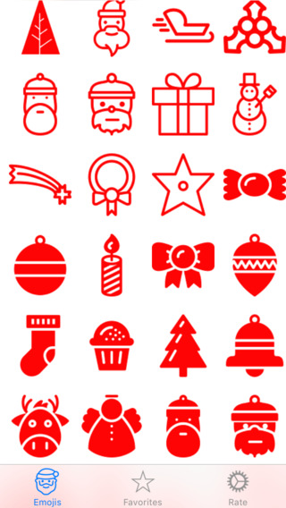 Christmas Emoji Emoticons